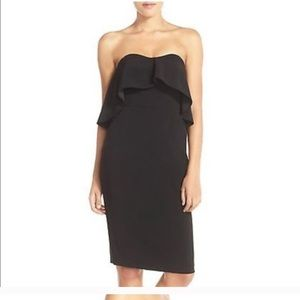 NWT CHELSEA28 Strapless Ruffle Cocktail Dress